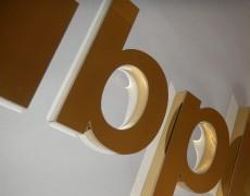 Profilbuchstaben Edelstahl gold